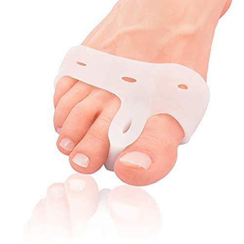 Dr. frederick's original cuscinetto deluxe per borsiti e distanziatore per le dita dei piedi - 2 pezzi - separatore in gel morbido per le persone attive - allevia il dolore - misura unica