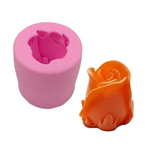 Kathariiy Molde de silicona 3D, moldes de rosas, velas hechas a mano, molde de fondant, molde de jabón, molde de bricolaje, molde de decoración de pasteles, herramienta de hornear de grado alimenticio
