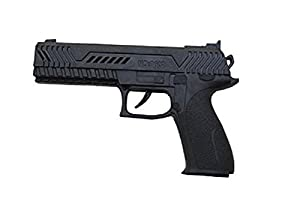 P'tit clown 74560 Plastic Automatic Gun - 21 cm, Black by P'TIT CLOWN