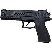 P'tit Clown 74560- Pistola automática de plástico, 21cm, color negro