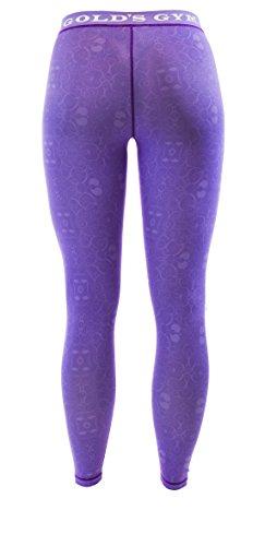 Golds Gym Damen Sportleggings - Ladies Patteren Printed Long Gym Leggings Lilac