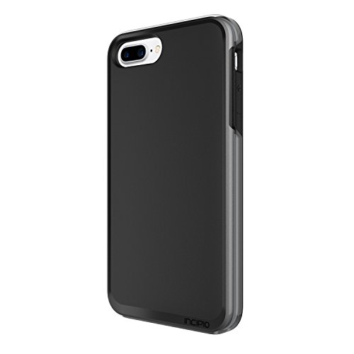 Incipio Performance Series Schutzhülle [Max] für Apple iPhone 7 in grau/gelb [Military Drop Tested | Holster mit Drehclip | Displayschutzfolie | Integrierter Schutzbumber] - IPH-1490-CGY schwarz/grau