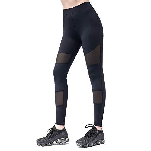 LK LEKUNI Pantacollant Sportivi Leggings Donna Yoga Pants Pantaloni Fitness Vita Alta -S