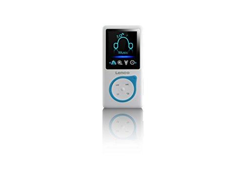 Lenco MP3-Player Xemio-668-B MP3-MP4-Player, 8 Gb Micro SD-Karte Inklusive kopfhörer - Blau (Mp4-player Sd-karte)