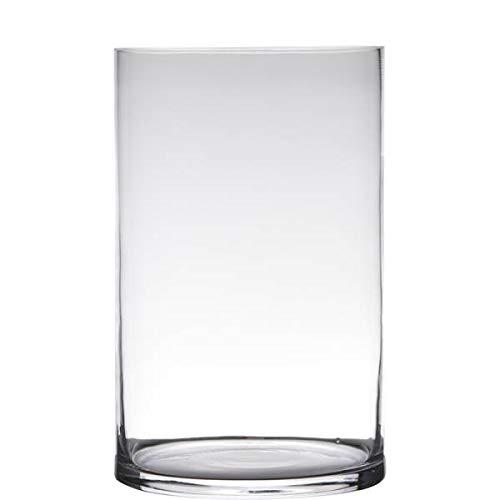 15cm D.12cm transparent rund Glas Hakbijl Dekoglas Vase ZYLINDER H