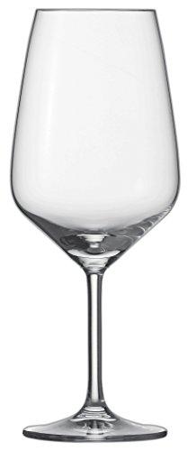 Schott Zwiesel 115672 Bordeaux Taste 130 Rotweinglas, Bleifreies Kristallglas, transparent, 9.5 x 9.5 x 23.7 cm, 6 Einheiten