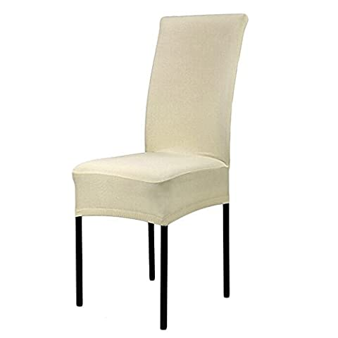 Sanwood Spandex Stretch Dining Room Chair Slipcover Protector (Champagne)
