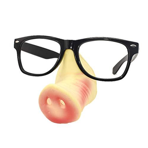 Amosfun Schwein Nase Sonnenbrille Halloween Kostüme Square Frame Kostüm Piggy Schnauze auffällige Party Brille Geburtstagsgeschenk