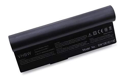 vhbw Akku für Asus Eee PC 901, 901 Go, 904, 904HD, 1000, 1000H, 1000H Go, 1000HA, 1000HD, 1000HE, 1000HG Notebook Laptop - (Li-Ion, 7.4V, 6600mAh) (Asus Eee Pc Ersatzteile)
