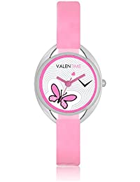 Valentime Analogue Pink Butterfly Branded Designer Watches - Girls and Womens