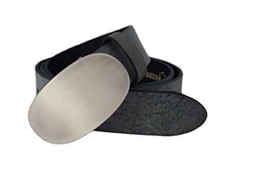 Wechselgürtel PREMIUM – geeignet für Schmuckschnallen (4cm breit) – 6 Farben – Damengürtel - Druckknopfgürtel - weiches Vollrindleder – Ledergürtel (Farben Weiche)