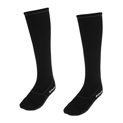 Baoblaze Damen Herren Tauchsocken Neoprene 3mm Neoprensocken Neopren Socken Beachsocken Sandsocken Sportswear - Schwarz M