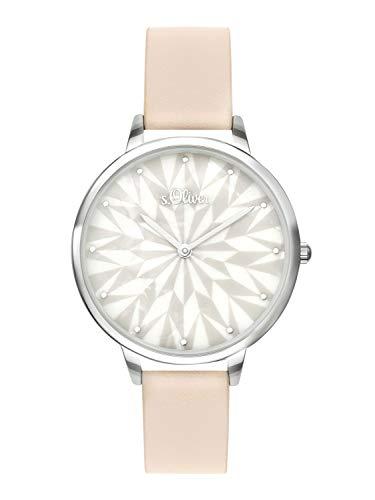 s.Oliver Time Damen Analog Quarz Uhr mit PU Armband SO-3577-LQ
