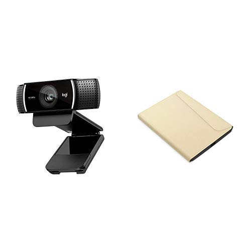 Logitech C920 HD Pro Webcam, Videochiamate e Registrazione Full HD 1080p con 2 Microfoni con Audio S + Kobo Sleepcover - e-book reader cases