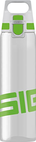 SIGG Total Clear ONE Green, Sport Trinkflasche, 0.75 L, Tritan, BPA frei, Grün