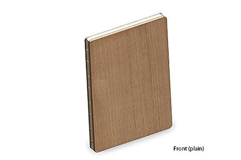 Couverture en Bois Véritable de Chêne Luxe A5 Bloc-notes / Livre de Croquis