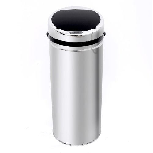 Homcom 42L LUXURY Automatic Sensor Dustbin Kitchen Waste Bin Rubbish Trashcan Auto Dustbin Stainless with Bucket CHROME by Homcom