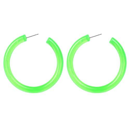 Andouy Mode Einfache Europäische und Amerikanische Ohrringe Wild Damen Modeschmuck(Grün)