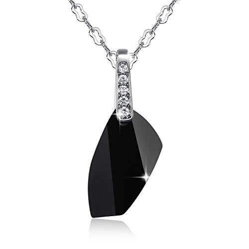 gosparking-black-jet-crystal-18k-white-gold-plated-alloy-necklace-pendant-with-austrian-crystal-for-