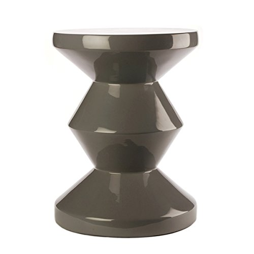 Hocker Zig Zag grau - pols potten, Hocker, Stuhl, Design, Designhocker, extravagant, Dekoration, Möbelstück, Sitzgelegenheit, ausgefallen, modern, stylish, Stil, Tisch