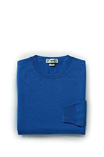 Caputo purecachemire Maglione Girocollo Donna in 100% pregiatissimo Cashmere, Vestibilita Classica, Disponibile in Colori organici e Taglie Curvy. Brown BIO (Bluette, S)