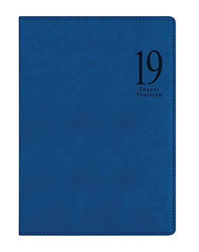 Letts Milano A5 Blau 2019 Terminkalender 1W/2S weiß multi Kunstleder 19-080570P