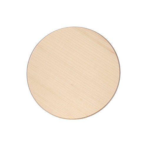 Bütic Ahorn Schinkenteller - rund - Holzteller Schneidebrett FSC, Brettgröße:20 cm Durchmesser