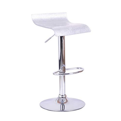 Ibuprofen Barstuhl Acryl Küche Home Stuhl Esszimmerstuhl mit Fußstütze Chrom Verstellbar Drehbarer Gaslift Barhocker Hochhocker Silber Weiß für Frühstücksbar Theke Barhocker - Weiße Acryl-barhocker