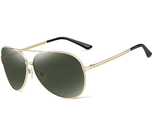 Price comparison product image ATTCL® Men's Hot Classic Aviator Polarized Sunglasses For Golf Driving 8009 Gold