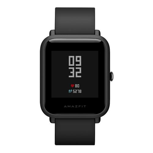 Amazfit Huami Pace Bip Smart Watch Touch Screen GPS Fitness Tacker Heart Rate IP68 Professional Waterproof (Black) (Official English Version)
