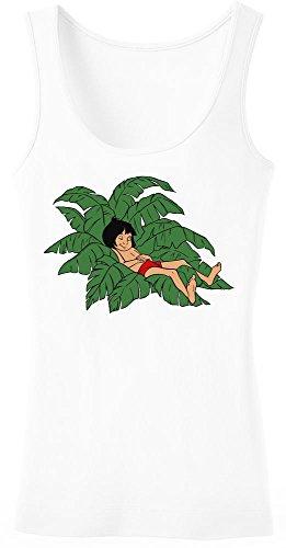 The Jungle Book Mowgli Sleeping Women's Tank Top Shirt Small