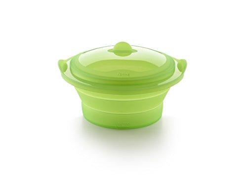Lékué - Vaporera plegable, color verde