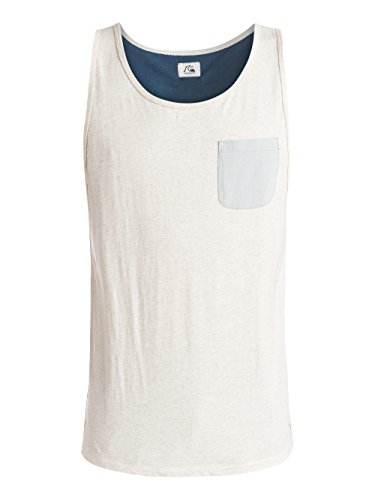 White Knit Tank Top (Quiksilver Herren Shirt und Hemd Baysickpocket, Snow White Heather, S, EQYKT03314-WBKH)