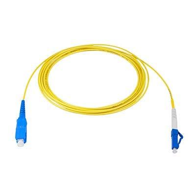LWL-Kabel LC auf SC Singlemode Simplex 2,0 mm Strumpfband Optical Fiber Optical Patch-Cord 2m -