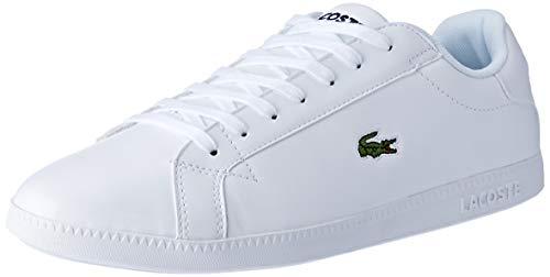 Lacoste graduate bl 1 sma, sneaker uomo, bianco wht 21g, 42.5 eu