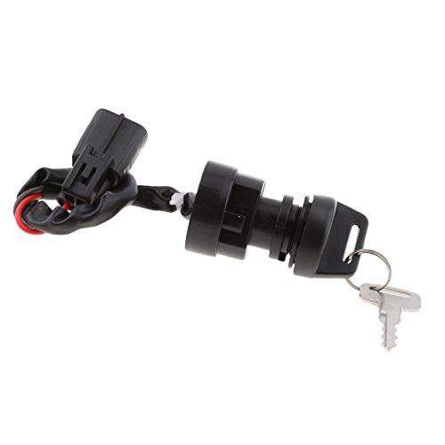 Sharplace Serrure à Clé Interrupteur de Démarrage D'allumage Accessoire ATV pour Yamaha Raptor