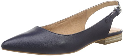 Marc O'Polo Ballerina, Damen Slingback Ballerinas, Blau (dark blue 880), 37 1/3 EU (4.5 Damen UK)