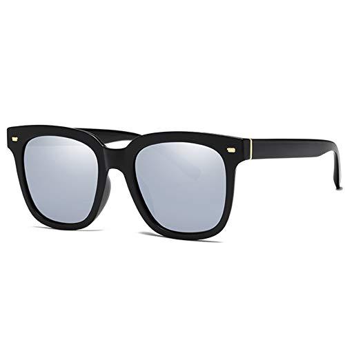 ZHANGQXIA Sonnenbrille Herren Sonnenbrille Damen,Quadratische Unisex Polarisierte Sonnenbrille Für Outdoor/Fahren/Urlaub/Reisen, 100% UV-Schutz 400,Silver