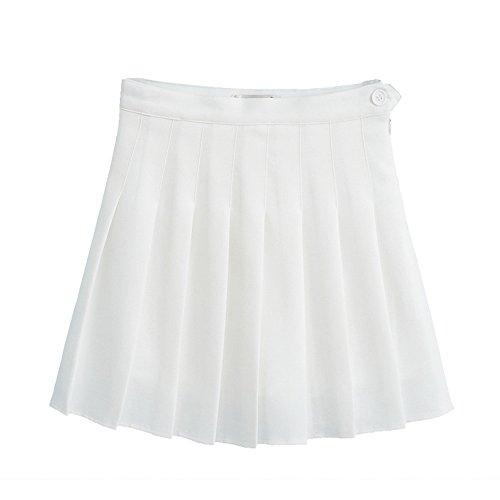 Shujin Damen Mädchen Elegant Falten Rock A-Linie Schulmädchen-Stil Skater Röcke High Waist Tennis Mini Rock