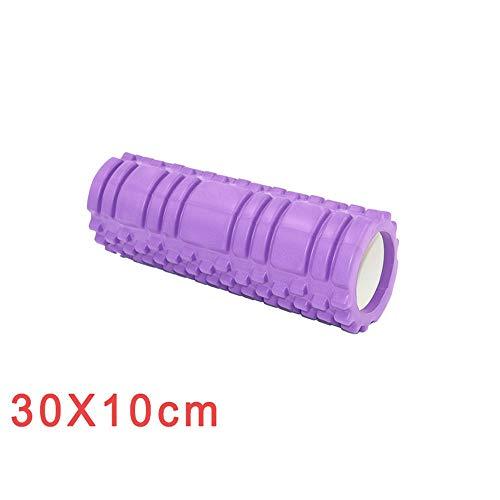 Yoga-Achse Schaumrolle Yoga Schaumrolle Schaumwelle Fitnessstudio Hilfstraining Anfänger für Nackenbein Taille Ausgleichsstange Floating Point Stick -Lila