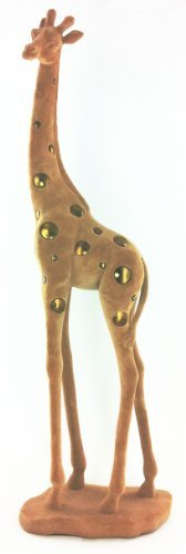 Table Art Decor Marron en velours Girafe debout Statue Dessus Figure figurine D13117
