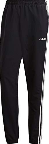 adidas Herren Essentials 3-Streifen Wind Trainingshose, Black/White, L/L (Wind 3 Pant Streifen)