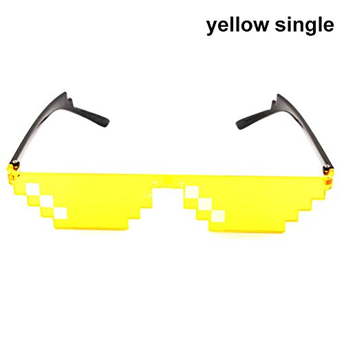 2d42507ae60d12 Thug Life Sunglasses Men Women MLG Pixelated Vintage Mosaic Sunglasses  Photographing Prop