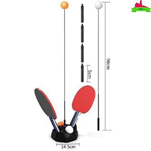WUNH Rebound-Tischtennistrainer Ping-Pong-Paddle-Tennis-Trainingsset Höhenverstellbar Mit Flexiblem Schnellrückprallgerät,A
