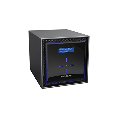 Netgear ReadyNAS-424 24 TB Desktop Ethernet LAN Network Attached Storage – Schwarz