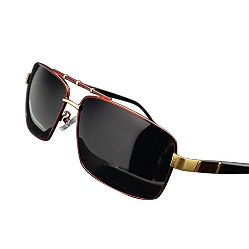 WULE-RYP Polarisierte Sonnenbrille mit UV-Schutz Polarisierte Fahrbrille für Herren UV 400, Classic Style Superleichtes Rahmen-Fischen, das Golf fährt (Farbe : Red)