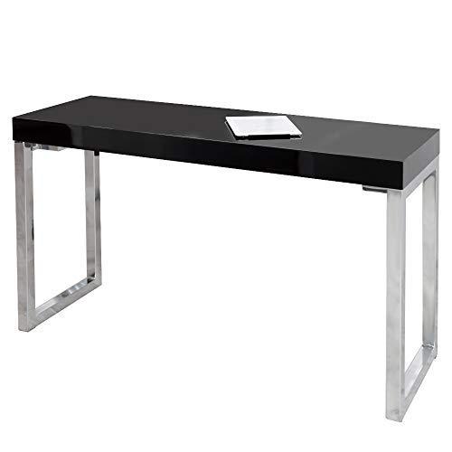lounge-zone Laptop Desk York Schreibtisch Home Office Tisch Bauhaus Design Chromgestell Bürotisch...