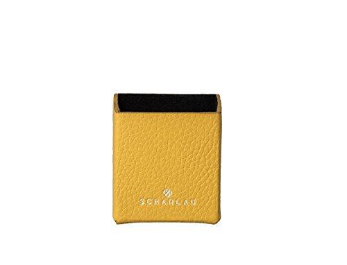 Kalb Box (Box für Zigarren Hochwertiges Kalbs-Leder PREMIUM Zigarettenetui Zigarettencase Zigarettenhülle Zigarettenbox Zigarettendose Cigarette Box Elegant Zigarettenschachtel Luxus Packaging (gelb))