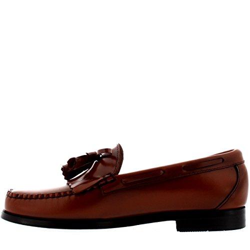 Herren G.H Bass Weejuns Layton Moc Kiltie Müßiggänger Büro Leder Schuhe Mid Braun