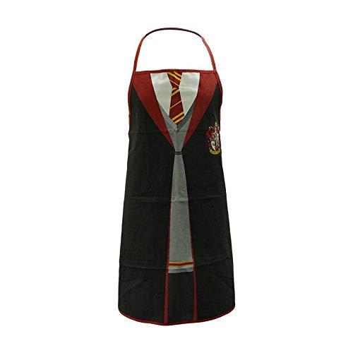 Half Moon Bay Schürze Harry Potter Grifondoro Uniform 79x70 cm Baumwolle Schwarz Rot, Mehrfarbig